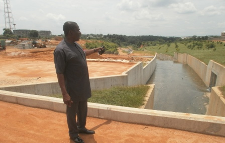 Essien at the Dominic Etuk Street project site