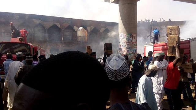 Fire guts popular Kano market