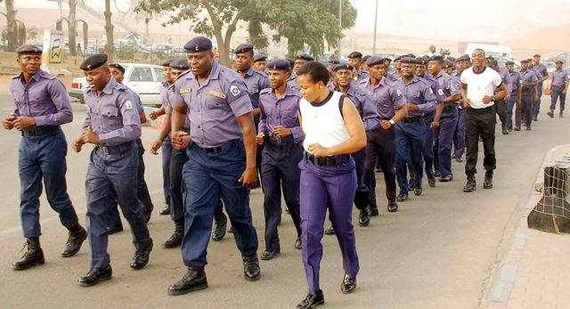 File: Nigerian Navy routine quarterly road exercise
