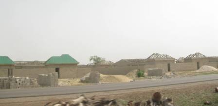 Some houses undergoing reconstruction works in Borno State