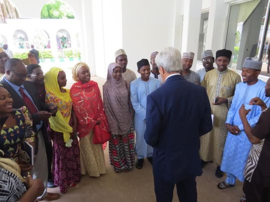 Secretary Kerry with some Students..