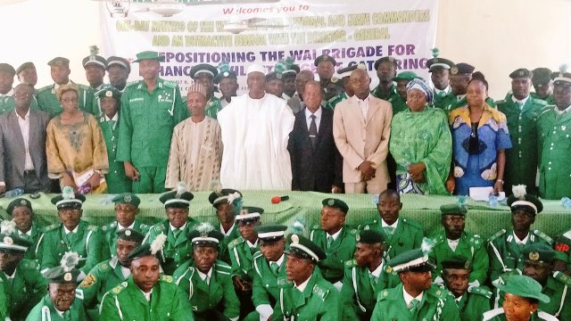 NOA DG, Garba Abari in a group photograph with members of the WAI Brigade