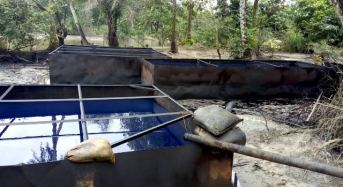 Troops Destroy 74 Illegal Refineries