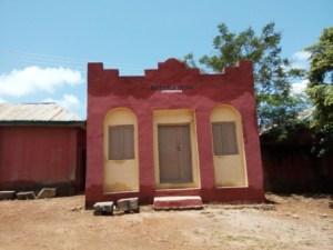 Newly painted palace of the Maiganga chief