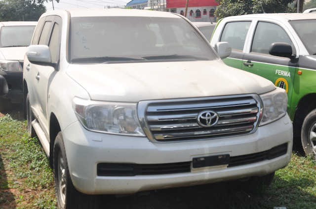 The amoured Land cruiser SUV recovered from Nze Akachukwu