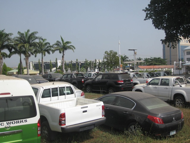Another view of the recovered vehicles
