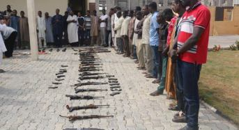 Police Parades 14 Ex-Personnel For Aiding Criminals