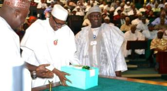 Buhari Presents N7.298 Trillion Budget Of Recovery And Growth