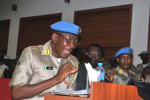 Commandant of the Peace Corps of Nigeria, Dickson Akoh