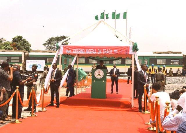 Lagos - Ibadan rail ready Dec 2018 - Osinbajo