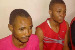 The convicts Innocent Clinton and Emmanuel Okanni