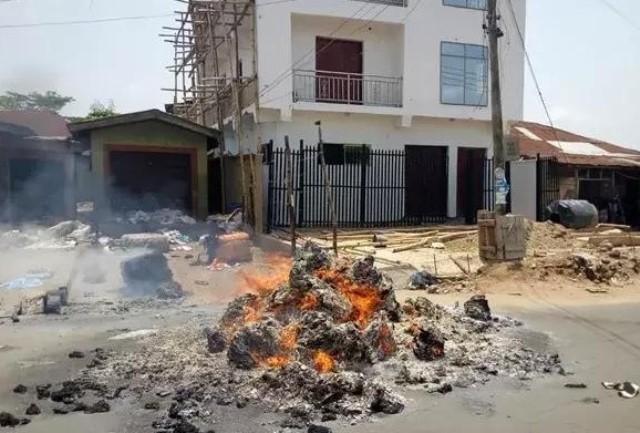 Properties worth millions of Naira were destroyed