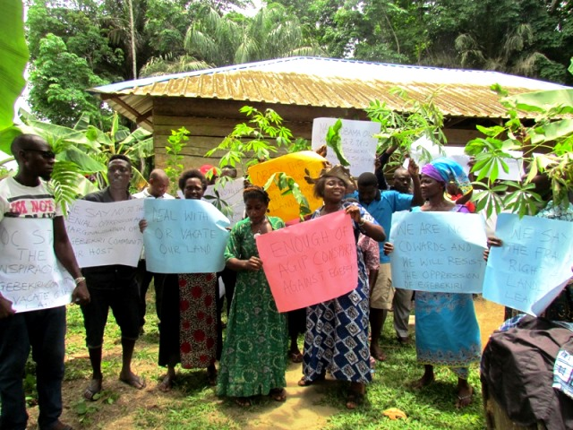 Residents of Egebekiri community protest 'unfair' tratment by Agip oil company