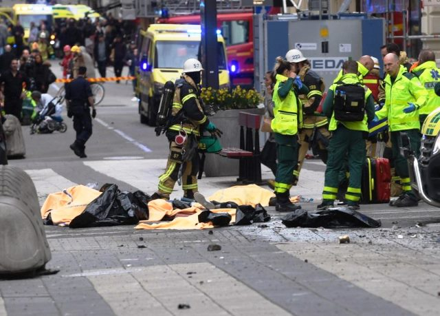Suspected Terrorist Drives Truck Into Crowd In Sweden