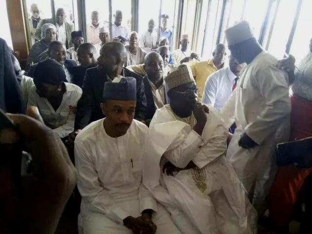 Former Niger State Governor, Babangida Aliyu and Umaru Nasko, at the courtroom on Wednesday. Credit: Twitter