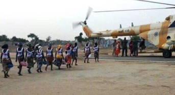 Freed Chibok Girls Arrive Abuja