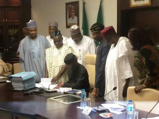 BREAKING - Osinbajo signs 2017 budget — one month after passage