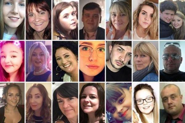 Victims of the Manchester attack. Photo credit: The Sun UK