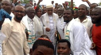 Shh! Don't tell the judge… huge IPOB crowd receives Nnamdi Kanu in Port Harcourt