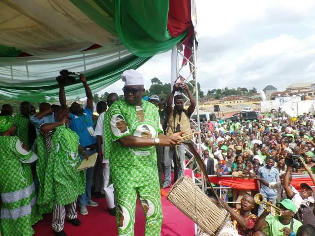 We should be talking about Buhari resigning, not meeting Osinbajo behind the camera - Fayose