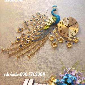 Đồng hồ treo tường con công 2019