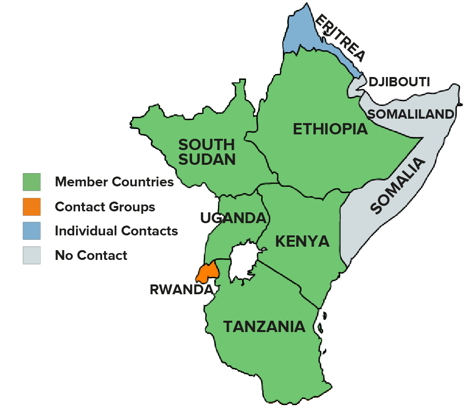 East Africa 4 colours