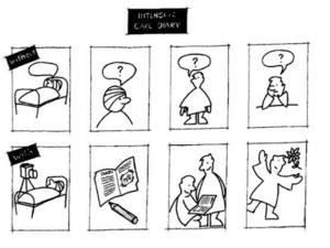ICU diary cartoon