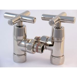 A1066 - Tuzio Traditional Gate Valve (Pair) - Polished Nickel