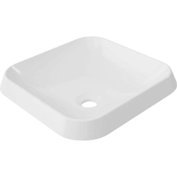 B9821 - Calma Rossini Square Vessel Sink - White