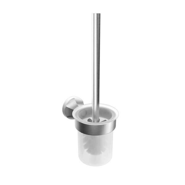 V2614 - Volkano Magma Wall-Mounted Toilet Brush - Brushed Nickel