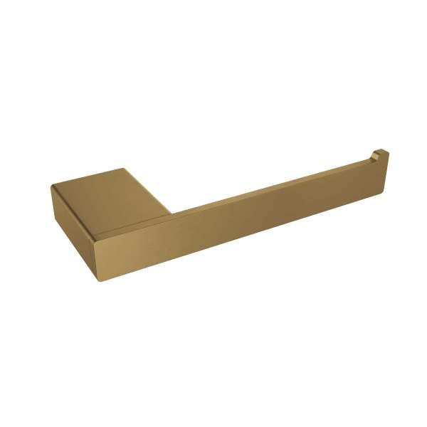 V3010-BGD - Volkano Cinder Toilet Paper Holder (LH) - Brushed Gold Dark