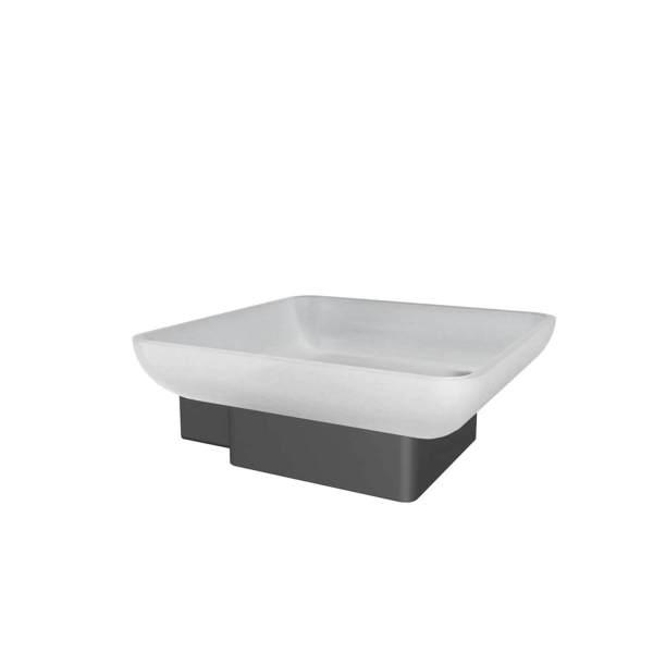 V3515 - Volkano Cinder Soap Dish - Matte Black