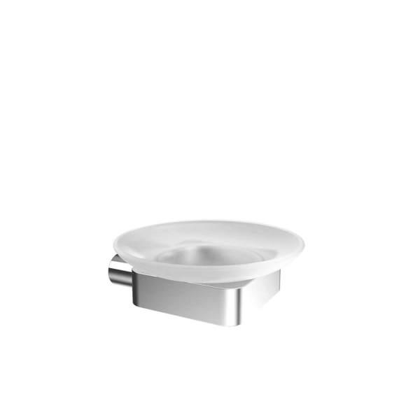 V4513 - Volkano Flow Glass Soap Dish - Chrome