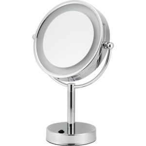 V9013 Volkano Free-Standing Lit Mirror with Zoom - Chrome