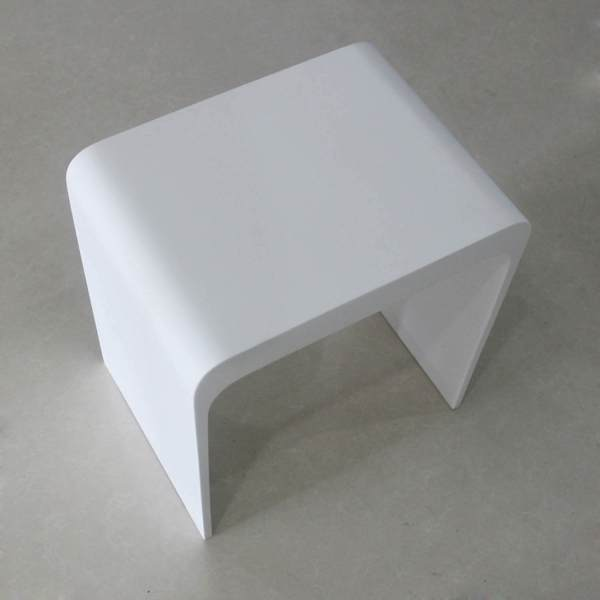 V9711 Volkano Shower Stool White
