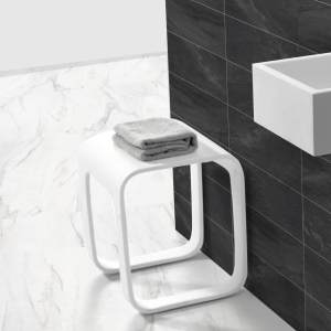 V9811 Volkano Shower Stool White