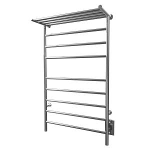 "K3023W - Kontour Angle 24"" x 40"" Electric Hardwired Towel Warmer - Chrome"