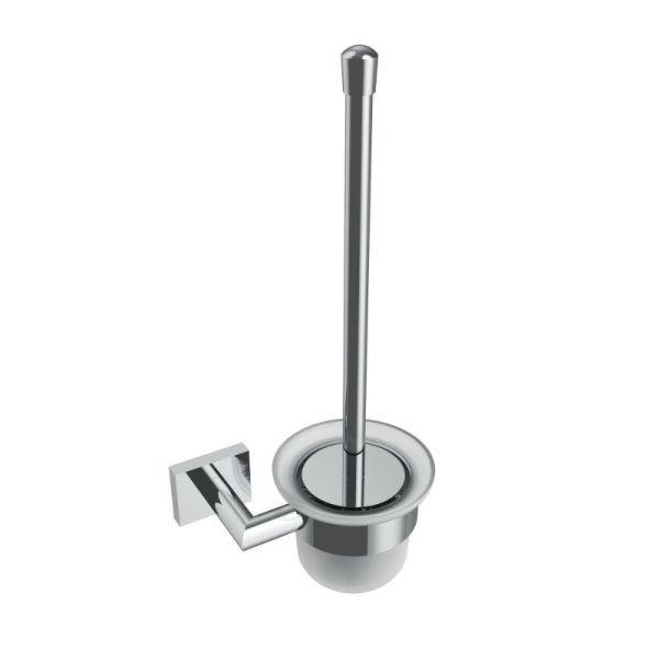 V62613 - Volkano Crater Wall Mounted Toilet Brush - Chrome