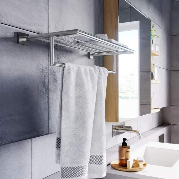 V62724 - Crater Towel Shelf with Bar