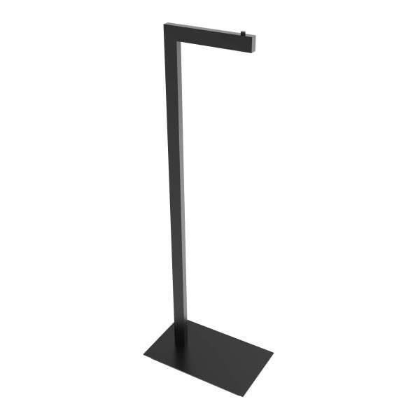 V91055 - square freestanding toilet paper holder - matte black
