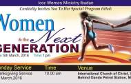 Women: ICOC Ibadan Women Ministry – Women and the Next Generation