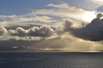 Looking east from Neist Point to North Uist, another Scottish island