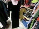 H Collection, Svart klänning, sammet, 38, 95 kr