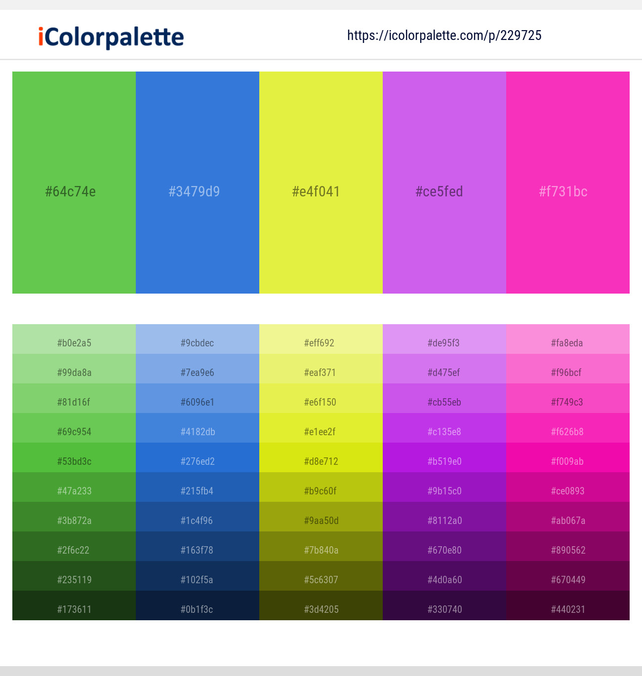 8 Color Palettes With Lime Green And Green Yellow Color In 2019