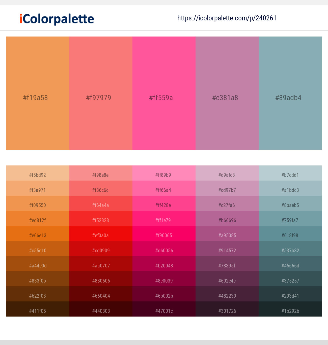 18 Color Palettes With Salmon And Hot Pink Color In 2019 Icolorpalette