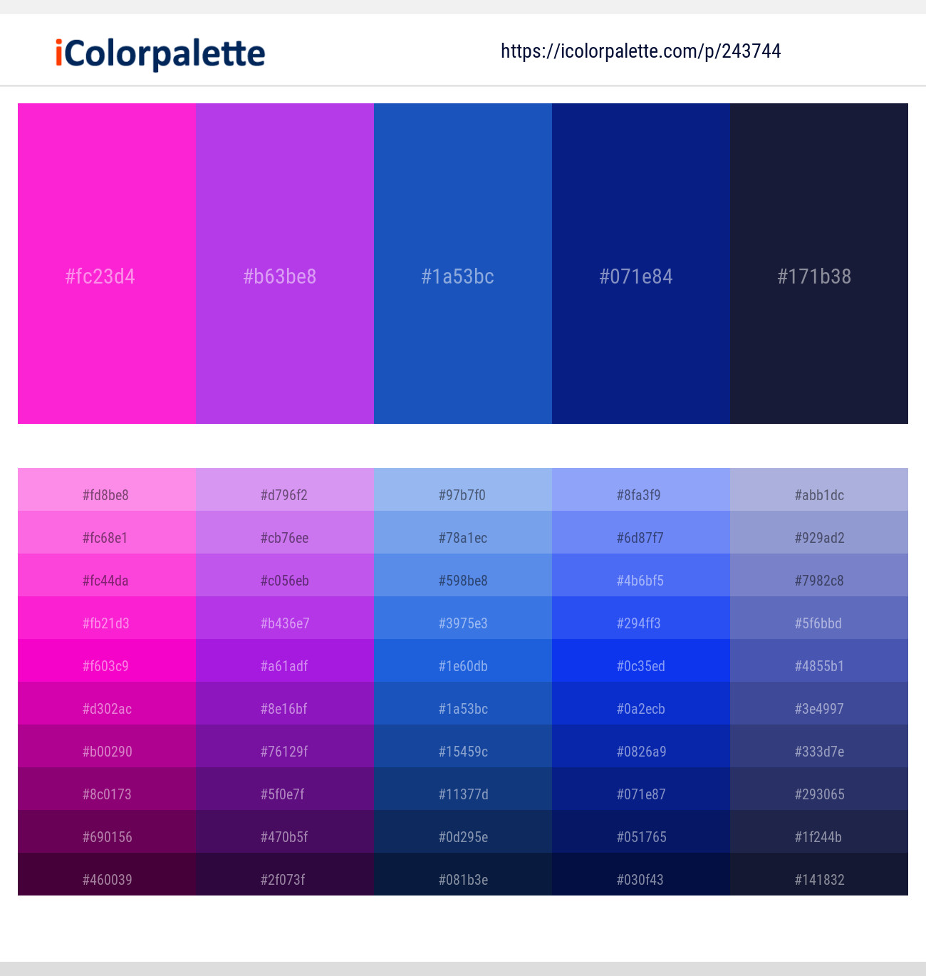 10 Color Palettes With Royal Blue And Dark Blue Color In 2019