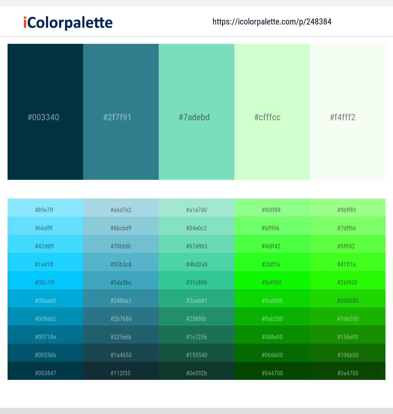 67 Color Palettes With Snowy Mint Color In 2019 Icolorpalette
