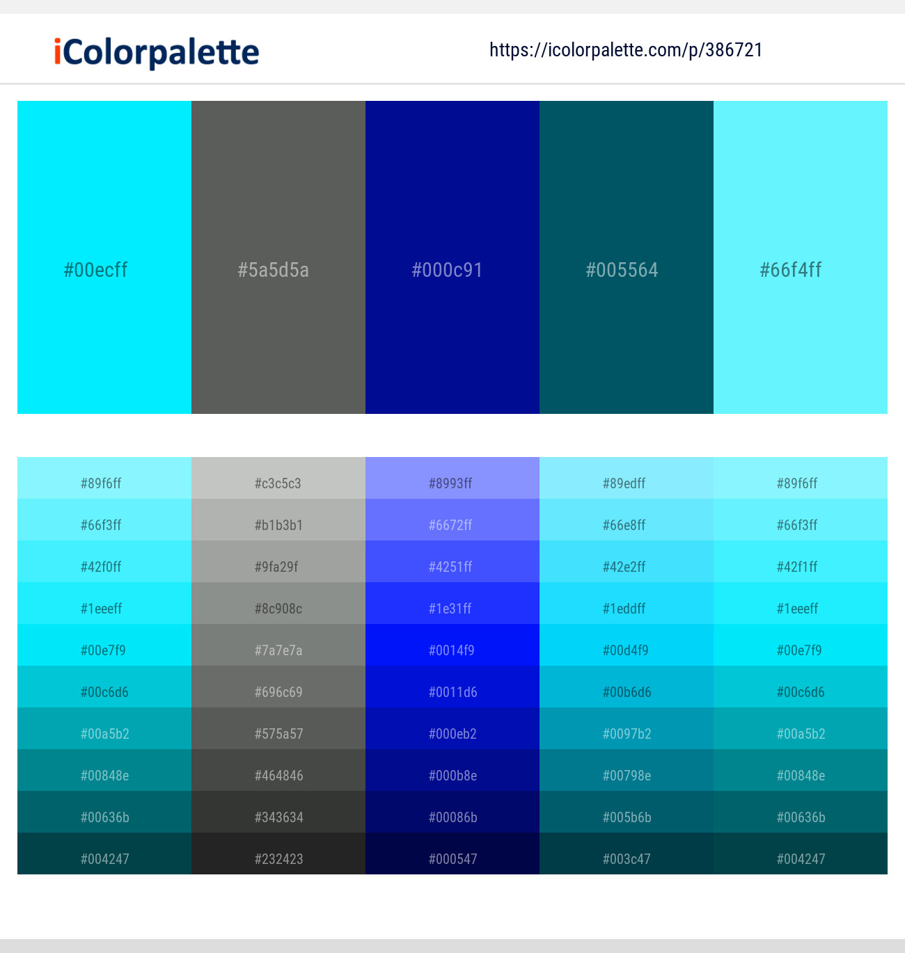 11 Color Palettes With Aqua And Aquamarine Color In 2020 Icolorpalette