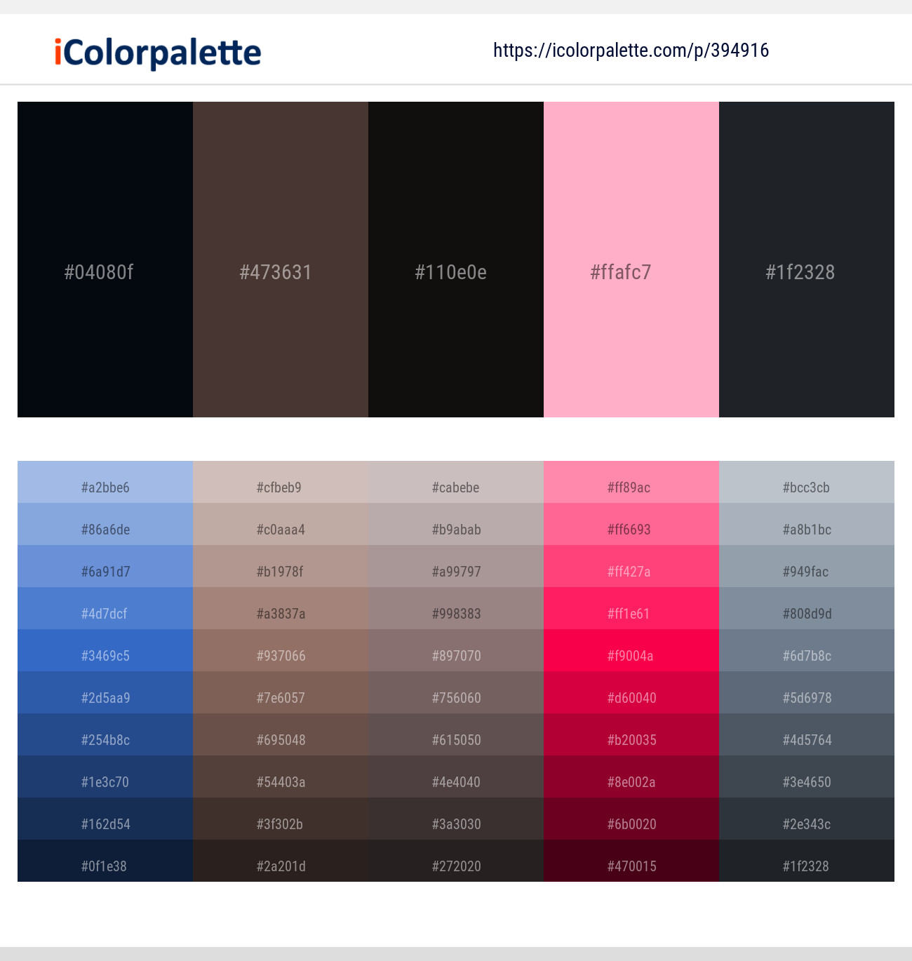 837 Color Palettes with Light Pink Color in 2019 | iColorpalette