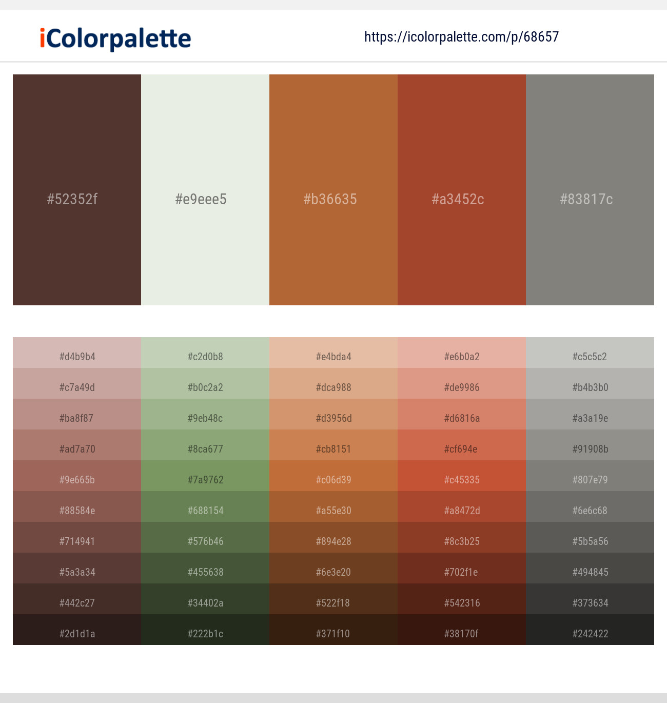1 Color Palettes With Congo Brown And Green White Color In 2019